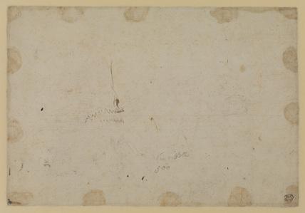 Unidentified sketch (verso)