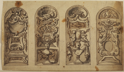 Four decorative panels (recto)