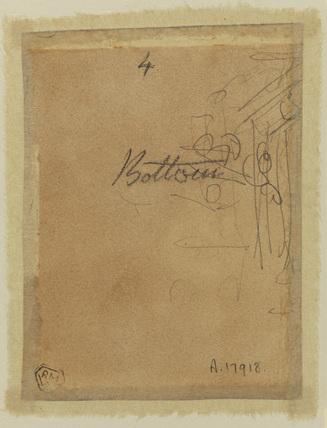 Unidentified rapid sketch (verso)