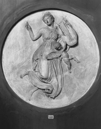 Plaster model for Muse Erato