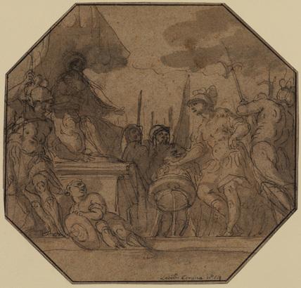 Mutius Scaevola putting his hand in the fire