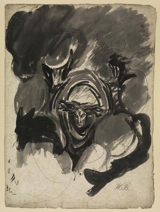 Study for a demonic spirit (from Henry VI, Part II, Act I, Scene II)