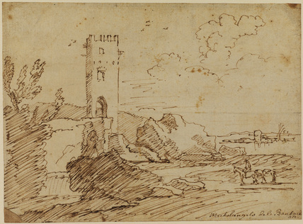 Landscape with tower