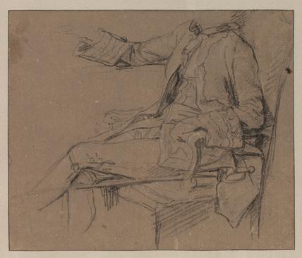 Study for 'Sir Sampson Gideon and his tutor, Signor Basti' (National Gallery of Victoria, Australia)