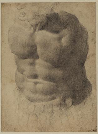 Study of a torso (recto)
