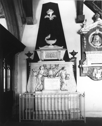 Monument to John Bentley Ashley and his wife