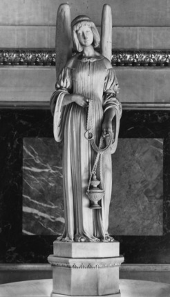 La Madeleine;Holy water stoup with angel