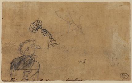 Rapid figure sketch (verso)