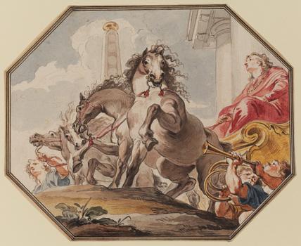 Joseph in Potiphar's chariot