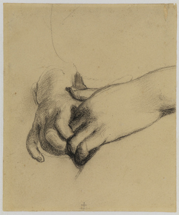 Clasped hands - study for 'Duncan Gray', 1814 (Victoria and Albert Museum)