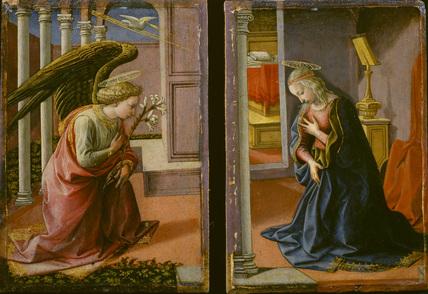 Diptych - Annunciation (recto)