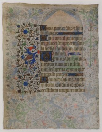 Illuminated manuscript (verso)