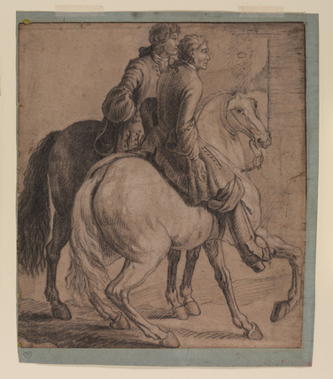 Two horses and riders