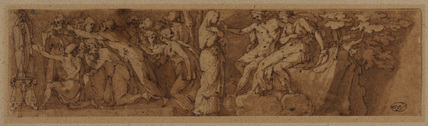 Drawing after a frieze by Polidoro di Caravaggio (on the facade of Palazzo Melisi in Rome)