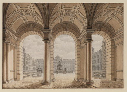 Somerset House from the Aldwych entrance