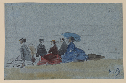 Women on a Beach, Trouville (recto)