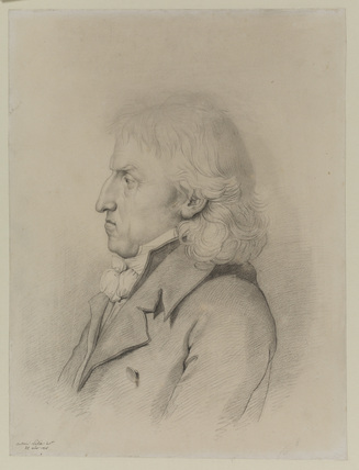 Bust portrait of a man, in profile