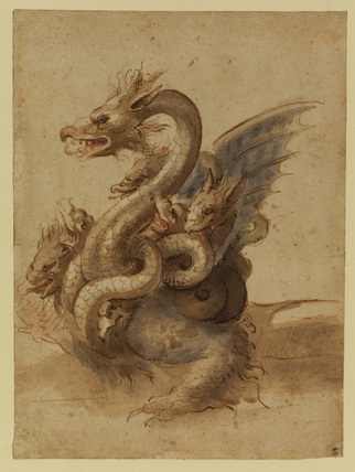 Seven-headed monster (recto)