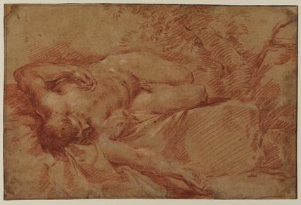 Recumbent male nude