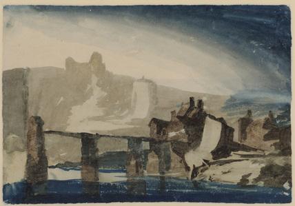 Study of Chepstow Castle (verso)