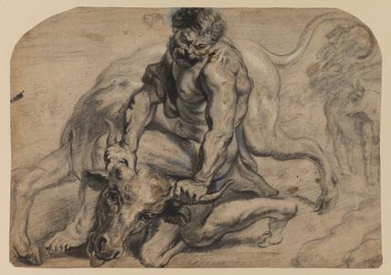 Hercules defeating Achelous