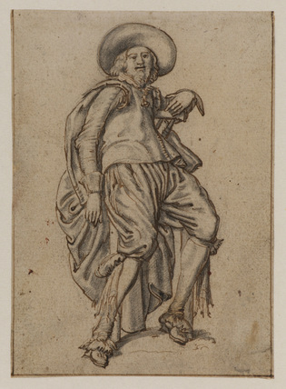 Man seated on a stool