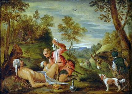The Good Samaritan (after Francesco Bassano)