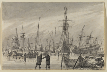 Frozen harbour