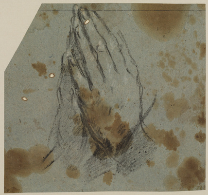Study of praying hands (recto)