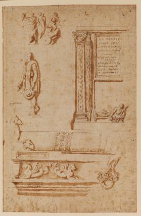 Studies after Roman bas-reliefs