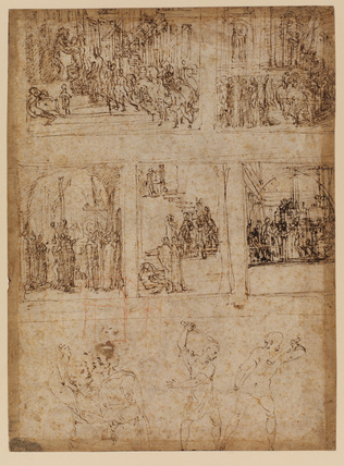 Sheet of stories (recto)