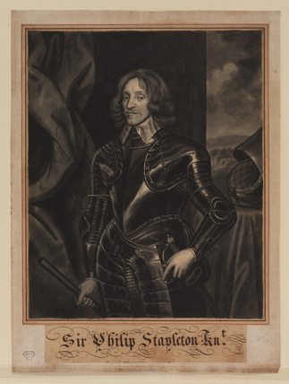 Three-quarter length portrait of Sir Philip Stapleton, in armour