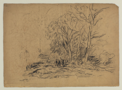 Landscape with a clump of trees (verso)
