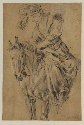 Woman seated on a horse