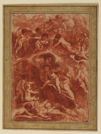 Virgin and Child surrounded by putti (recto)