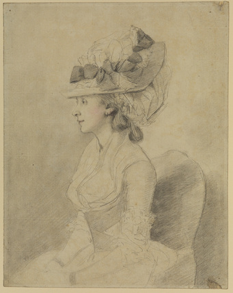 Half-length portrait of a young lady