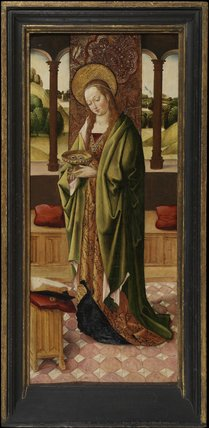 Saint Lucy (right panel of a triptych)