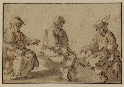 Three men resting