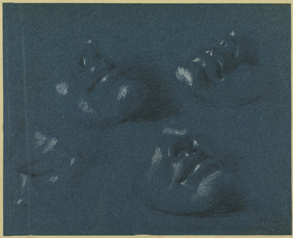 Four studies of a mask of a young man