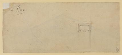 Sketch of ornament (verso)
