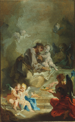 Saint Anthony of Padua adoring the Christ Child