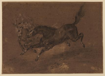 Horses running (recto)