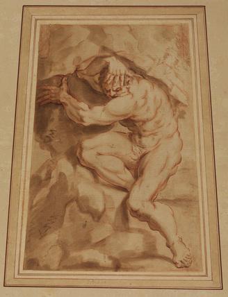 Copy of the 'Giant' by Lodovico Carracci (in Palazzo Sampieri, Bologna)