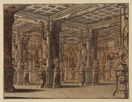 Interior of an imaginary palace