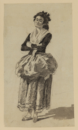 Standing figure of a young woman