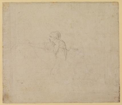 Study of a woman kneeling (verso)