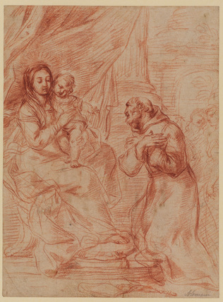 Virgin and Child with Saint Francis
