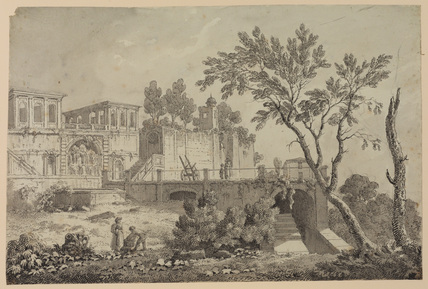 View of the Farnese Gardens in Rome