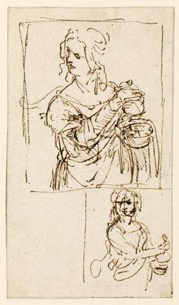 Studies for a Saint Mary Magdalene