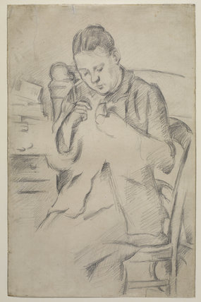 Hortense Fiquet (Madame Cézanne) sewing